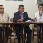 Gregorio Acarapi, viudo de Pepa Pinto, se dirige al público