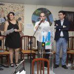 Alejandro Alcántara pronuncia su agradecimiento por el premio en esta segunda edición