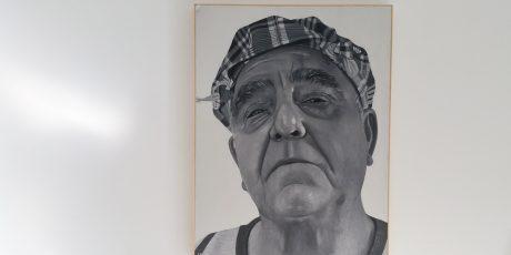 El Picapedrero - obra de Héctor Lara Pino - ganador en la modalidad de Facultades de Bellas Artes